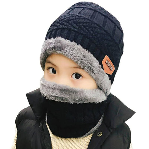 JIANG Kids Hat And Scarf