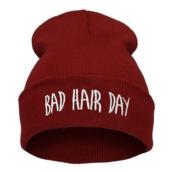 Stickad Bad Hair Day Beanie