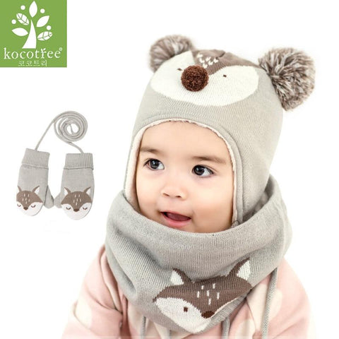 KOCOTREE Baby Fox Hat & Scarf
