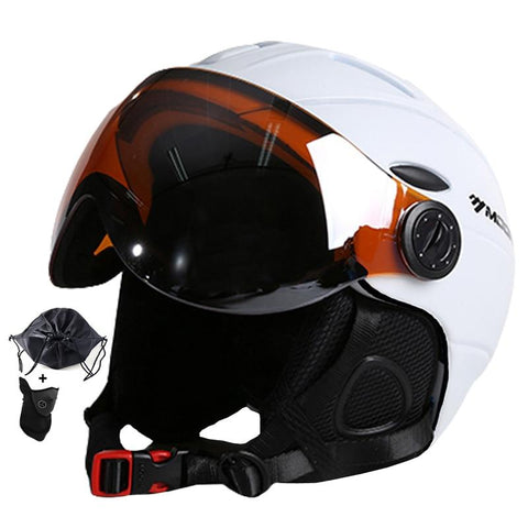 MOON Goggles Ski Helmet With Visor