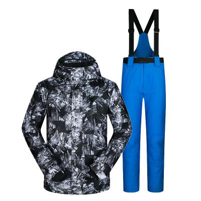 MUTUSNOW Winter Mens Microfiber Jacket & Pants Set för Ski / Snowboard