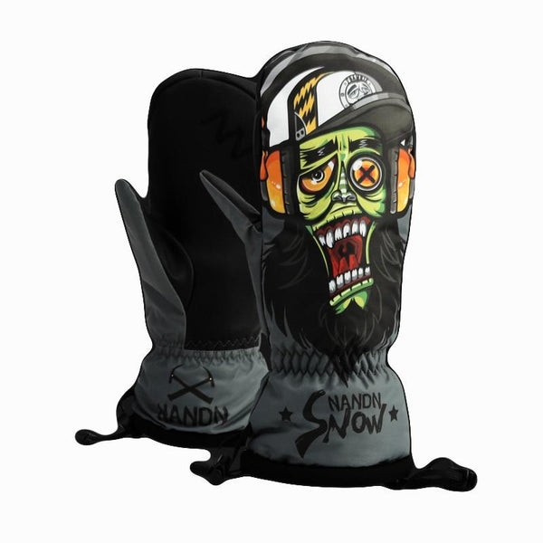 NEFF Mittens | Snowboarding Mittens - Monster Gloves Cartoon Style