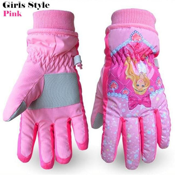 POWERPAI Ski Snowboard Cartoon Handschuhe - Kinder