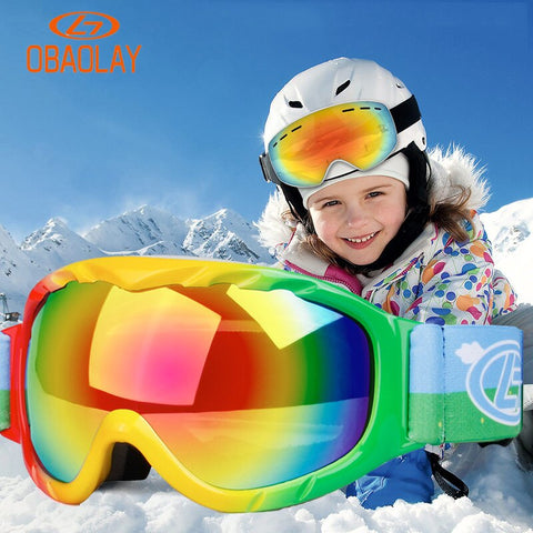 BE NICE Anti Fog Ski Snowboard Goggles - Kid's