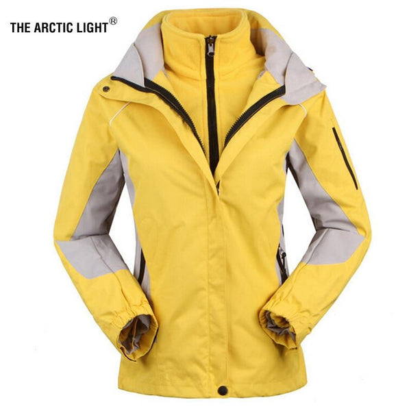 THE ARCTIC LIGHT Damen Skijacke mit Fleecefutter (abnehmbar)