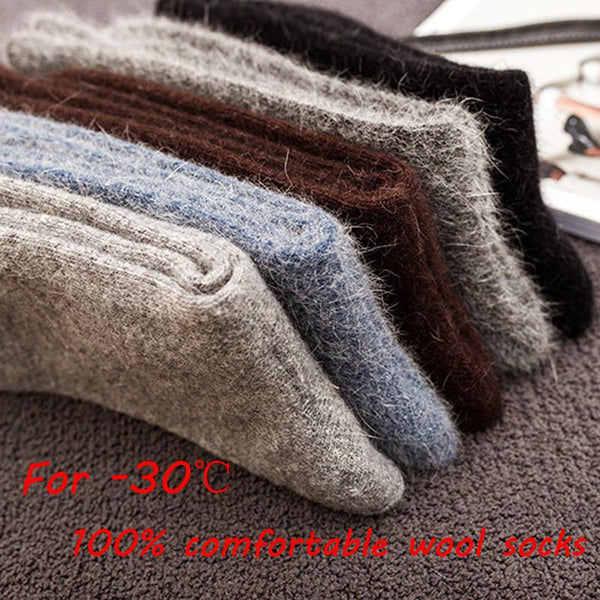 Thick Merino / Angora Rabbit Wool Socks (3 Pairs)