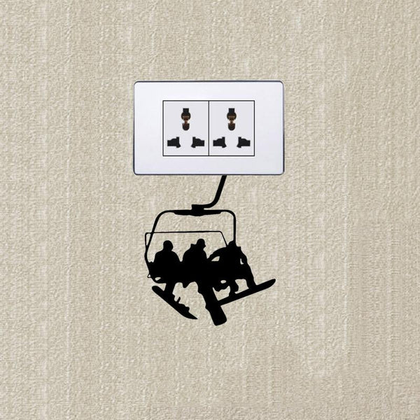 YOJA Ski Cable Ride Wall Sticker