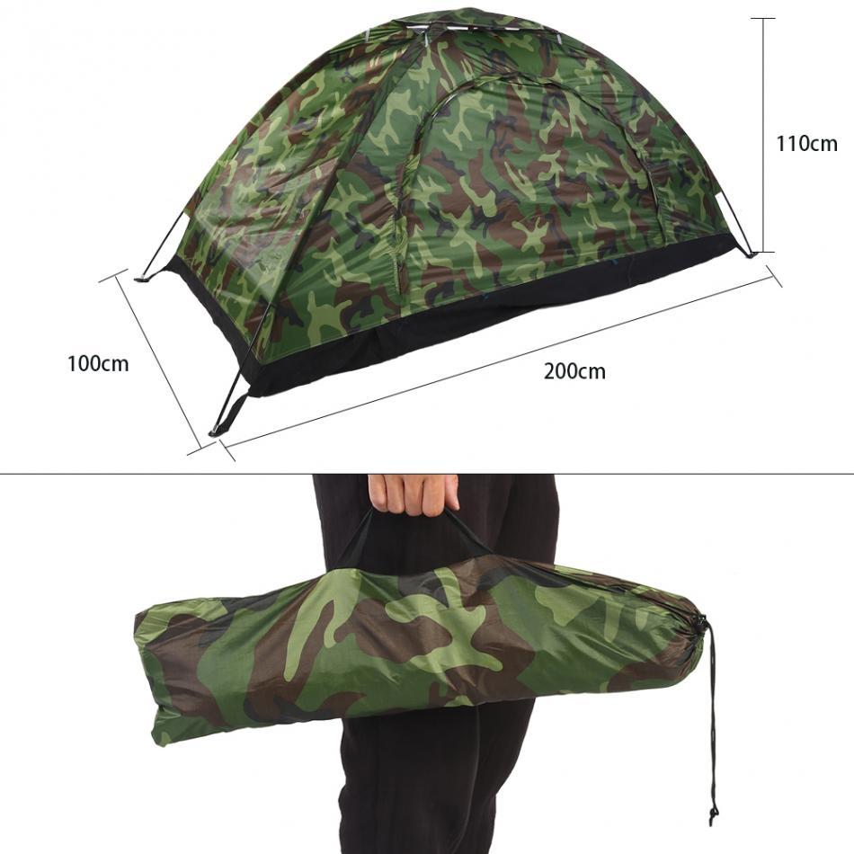 1-4 Person Portable Outdoor Camping Camouflage Tent - Bee Valid