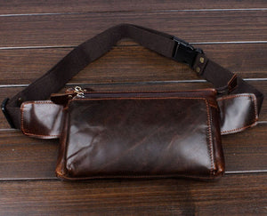 Genuine Leather Travel Fanny Pack - Bee Valid