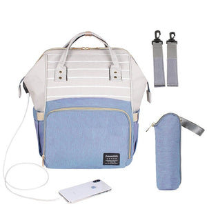 Backpack Diaper Bag with Anti-Theft & USB - Bee Valid
