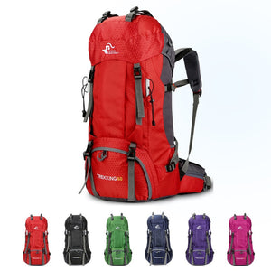 60L Waterproof Outdoor Travel Backpack - Bee Valid