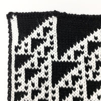 Rule 110 Scarf #170, Elementary Cellular Automata Knit - second