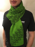 Cyber Scarf - Bright Green and Black Acrylic Scarf
