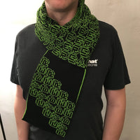 Cyber Scarf Second - Bright Green and Black Acrylic Scarf