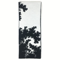 Mandelbrot 13: Clouds in my Coffee - Black and White Acrylic Scarf