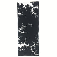 Mandelbrot 13: Clouds in my Coffee - Black and White Acrylic Scarf - Second - ships 12/29/17