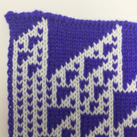 Rule 110 Scarf #428, Elementary Cellular Automata Knit - second