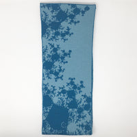 Mandelbrot 15: De-orbiting Satellites - Dark Teal and Light Teal Merino Scarf - ships 11/27/17
