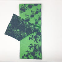 Mandelbrot 15: De-orbiting Satellites - Grass Green and Dark Grey Merino Scarf - Second - ships 11/30/17 - Second
