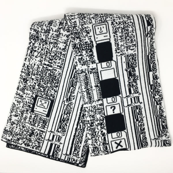 Happy Mac/Sad Mac, Power Mac 5200 - Black and White Acrylic Scarf