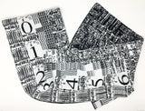 Disk chip, Quadra 660AV - Black and White Acrylic Scarf