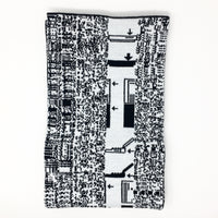 Mac Load Icons, Quadra 660AV - Black and White Acrylic Scarf