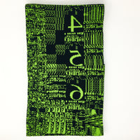 Disk chip, Quadra 660AV - Black and Green Acrylic Scarf