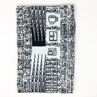 Sifter, Fridge, Mixer, Power Mac 5200 - Black and White Acrylic Scarf