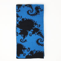 Mandelbrot 22: Spiral Galaxies - Blue and Black Acrylic Scarf