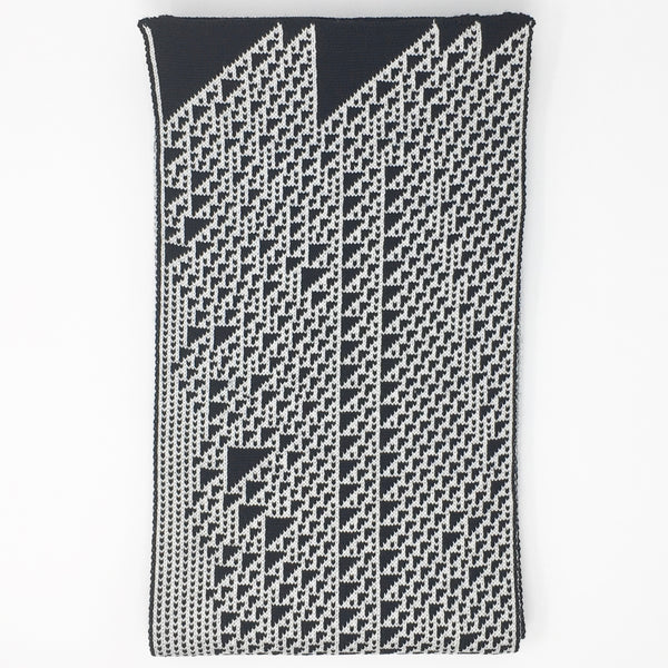 Rule 110 Scarf #108, Elementary Cellular Automata Knit - second