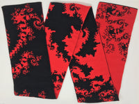 Mandelbrot 20: Dragon's Breath - Black and Red Acrylic Scarf