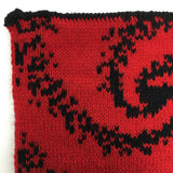 Mandelbrot 20: Dragon's Breath - Black and Red Acrylic Scarf - Second