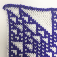 Rule 110 Scarf #439, Elementary Cellular Automata Knit - second
