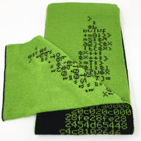 Perl Quine Scarf - Black and Bright Green Acrylic