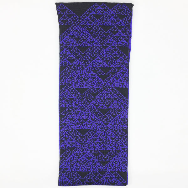 Rule 90 Scarf #602, Elementary Cellular Automata Knit - second