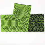Python Quine Scarf - Black and Bright Green Acrylic