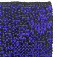 Rule 105 Scarf #467, Elementary Cellular Automata Knit - second