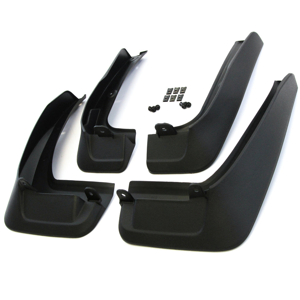 2015 fits Toyota Highlander Mud Flaps 2WD Gas & Hybrid Models - Front and Rear Molded 4pc Full Set