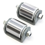 "2) fits Weld On Steel Micro 2"" Roller Heavy Duty Steel Wheel Caster Grease Fitting RV Trailers"