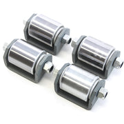 "4) fits Heavy Duty Weld On Steel Micro 2"" Roller Heavy Duty Steel Mini Wheel Grease Fitting RV Trailers Caster"