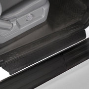 2014 fits Ford F150 Crew Cab SuperCrew Door Step Sill Scuff Plate Protectors Shield 4 Dr 4pc Kit Paint Guard Paint Protection