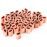 "1/8"" fits Copper Wire Rope and Cable Line End Double Barrel Ferrule - Qty 50"