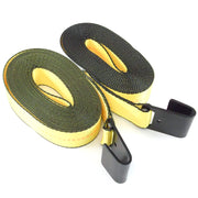 "2x fits 2""x30' Winch Strap Flat Hook Tie Down"