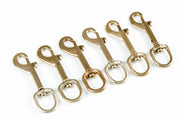 6 fits Swivel 1/2 Inch 12.7mm 40 Lb Bold Snap Round Eye Hook Silver Flag Purse Brass