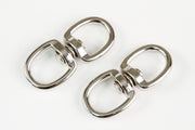 6 fits Silver Double Key Ring Snap Bolt Trigger Clip 100# Flag 3/4 In Key Ring Hook