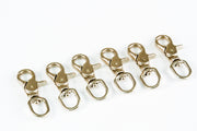 6 fits Round Eye Trigger Quick Snap Silver 1/2 Inch Hook Leash Purse Key Ring Belt