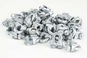 50 fits Galvanized Zinc Plated Wire Rope Clip Clamp Chain 1/4 Inch M3 3mm