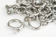 25 fits Stainless Steel 5/16 Inch 7.9mm Anchor Shackle Bow Pin Chain Ring 1400 Pound