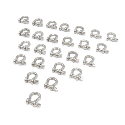 25 fits Stainless Steel 3/8 Inch 9.5mm Anchor Shackle Bow Pin Chain Ring 2000 Pound