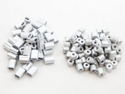 50 fits Ferrule 3/32 Double Barrel Aluminum Cable Snare Wire Swage +50 Line Stop End